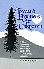 Toward frontiers yet unknown : a ninetieth…