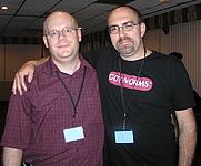 Author photo. Jason Sizemore (on left). Mari Adkins,  June 23, 2006