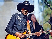"Author photo. Clarence ""Gatemouth"" Brown at the Long Beach Blues Festival, 1 September 1996."