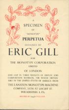 A specimen of Monotype Perpetua : designed…
