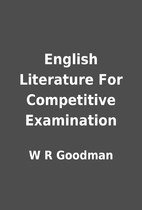 English Literature For Competitive…
