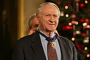Author photo. Credit: White House photo by Shealah Craighead, Dec. 15, 2006, receiving the 2006 President Medal of Freedom