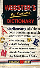 Webster's for Everyone Dictionary by…