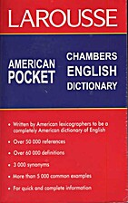 Larousse American Pocket Chambers English…