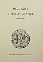 Memminger Geschichtsblätter Jahresheft 1961