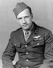 Author photo. Sergeant Jacob Daniel DeShazer, bombardier, U.S. Army Air Force. Official US Air Force Photo