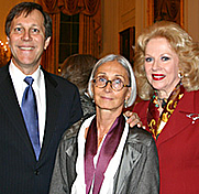 Author photo. 2004 Medalist Twyla Tharp with NEA Chairman Dana Gioia and National Council on the Arts member Mary Costa.