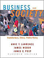 Business And Society: Stakeholders, Ethics,…