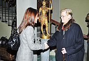 Author photo. Princess Marie of Denmark (L) greets Kristen Aschengreen Piacenti attends a guided visit of the Museum Stibbert on February 1, 2011 in Florence, Italy.