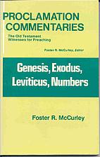 Genesis, Exodus, Leviticus, Numbers…