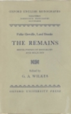 The Remains: Being Poems of Monarchy and…