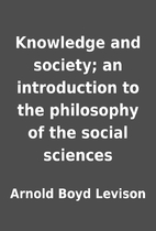 Knowledge and society; an introduction to…