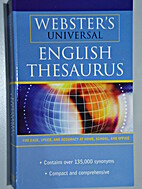 English Thesaurus (Webster's Universal) by…