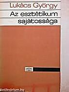 Az esztétikum sajátossága II. kötet by…