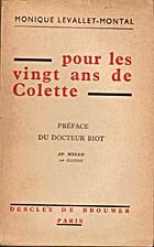Pour les vingt ans de Colette by Monique…