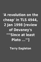 'A revolution on the cheap' in TLS 4944, 2…