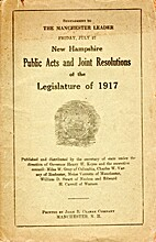 New Hampshire Public Acts and Joint…