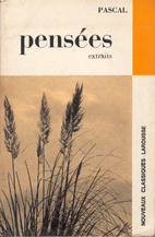 Pensees: extraits by Pascal