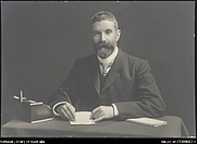 Author photo. Portrait of Alfred Deakin.  From the collection of the National Library of Australia, nla.pic-an23309662