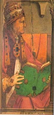 Author photo. Portrait of Aeneas Silvius Piccolomini (Pope Pius II)