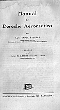 Manual de derecho aeronáutico by Luis Tapia…