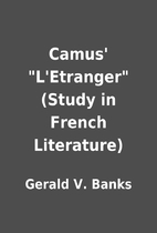 Camus' L'Etranger (Study in French…