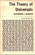 The theory of universals by Richard I. Aaron
