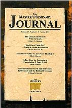 The Master's Seminary Journal (Vol. 17 No. 2…