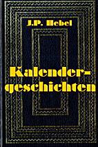 Kalendergeschichten by Johann Peter Hebel