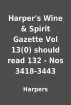 Harper's Wine & Spirit Gazette Vol 13(0)…