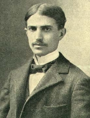 Author photo. Illustration from 1900 magazine