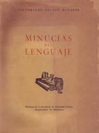 Minucias del lenguaje by Victoriano Salado…
