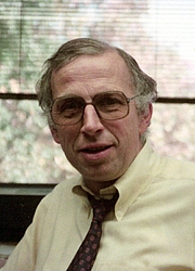 Author photo. American astrophysicist George B. Field, in 1987 by Wikipedia user A. T. Service