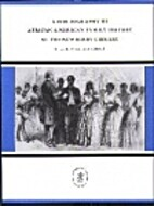 A bibliography of African American family…