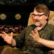Author photo. Michael Arnzen interview in 2014.