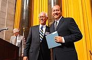 Author photo. Michael Ramirez, on right.  Columbia University. <A HREF=&quot;http://www.pulitzer.org/citation/2008,Editorial+Cartooning&quot;> pulitzer.org</A>