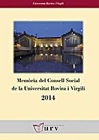 Memòria del Consell Social de la URV 2014…