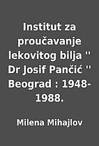 Institut za proučavanje lekovitog bilja ''…