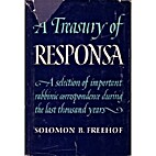 A Treasury of Responsa by Solomon Bennett…