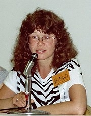 Author photo. Photo (cropped) by Alan Light 1982. SDCC.