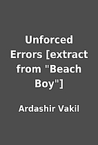 Unforced Errors [extract from Beach Boy]…