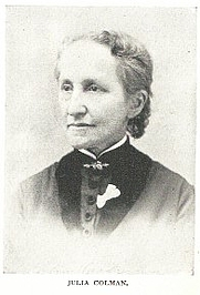 Author photo. Julia Colman (mid-1800's) Buffalo Electrotype and Engraving Co., Buffalo, N.Y.
