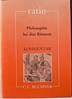 Kommentar: Philosophie bei den Römern…