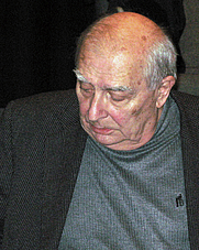 Author photo. Claude Chabrol, à Amiens (Somme, France), Nov. 2008. Photo by Marc Roussel.