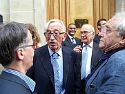 Author photo. French writer, philosopher and psychanalyst Jean-Bertrand Pontalis (center left), with poet Jacques Réda (right), at the inauguration of rue Gaston-Gallimard in Paris By LPLT - Own work, CC BY-SA 3.0, <a href=&quot;https://commons.wikimedia.org/w/index.php?curid=15522178&quot; rel=&quot;nofollow&quot; target=&quot;_top&quot;>https://commons.wikimedia.org/w/index.php?curid=15522178</a>