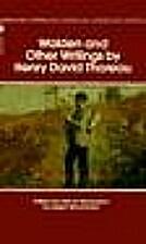 Henry D. Thoreau: Selected Writings on…