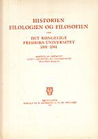 Historien, Folologien og Filosofien ved Det…
