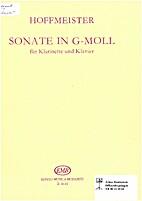 Sonate in G-Moll für klarinette und klavier…