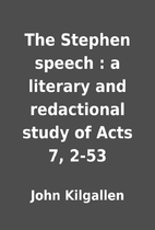 The Stephen speech : a literary and…