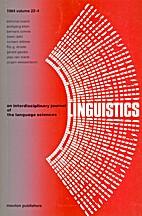 Linguistics 22 (1984) 4: 437-567